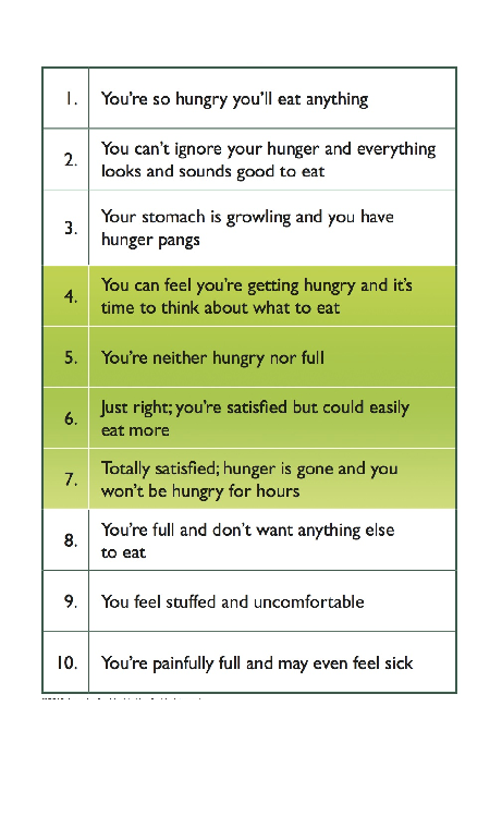 """The hunger meter by Dr Coral Arvon"""